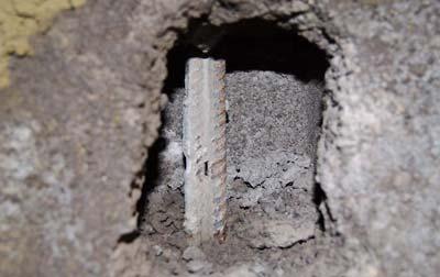 Reinforced hollow block wall defect Sydney